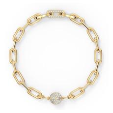 Swarovski The Elements Chain Bracelet, White, Gold-tone plated, Medium