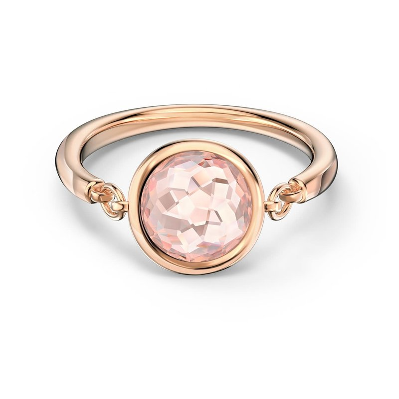 Swarovski Tahlia Ring, Pink, Rose-gold tone plated, Size  55