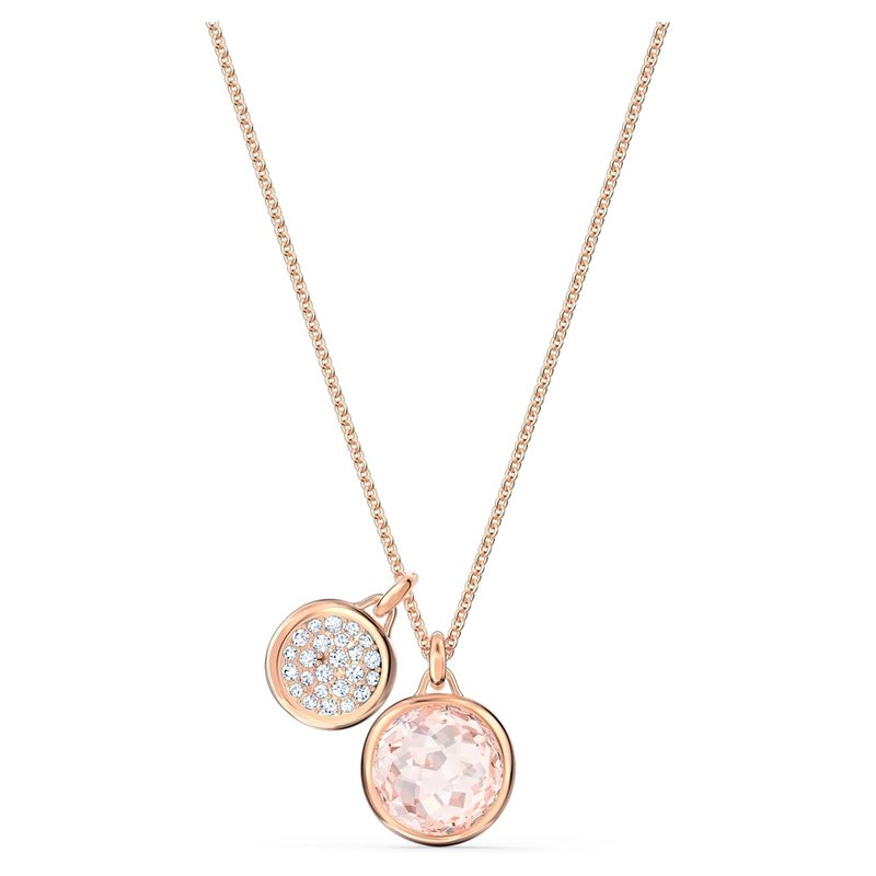Swarovski Tahlia Double Pendant, Pink, Rose-gold tone plated