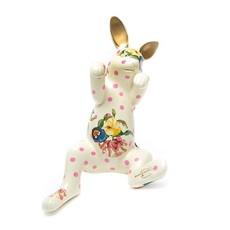Mackenzie-Childs Funny Bunny Pot Climber - White