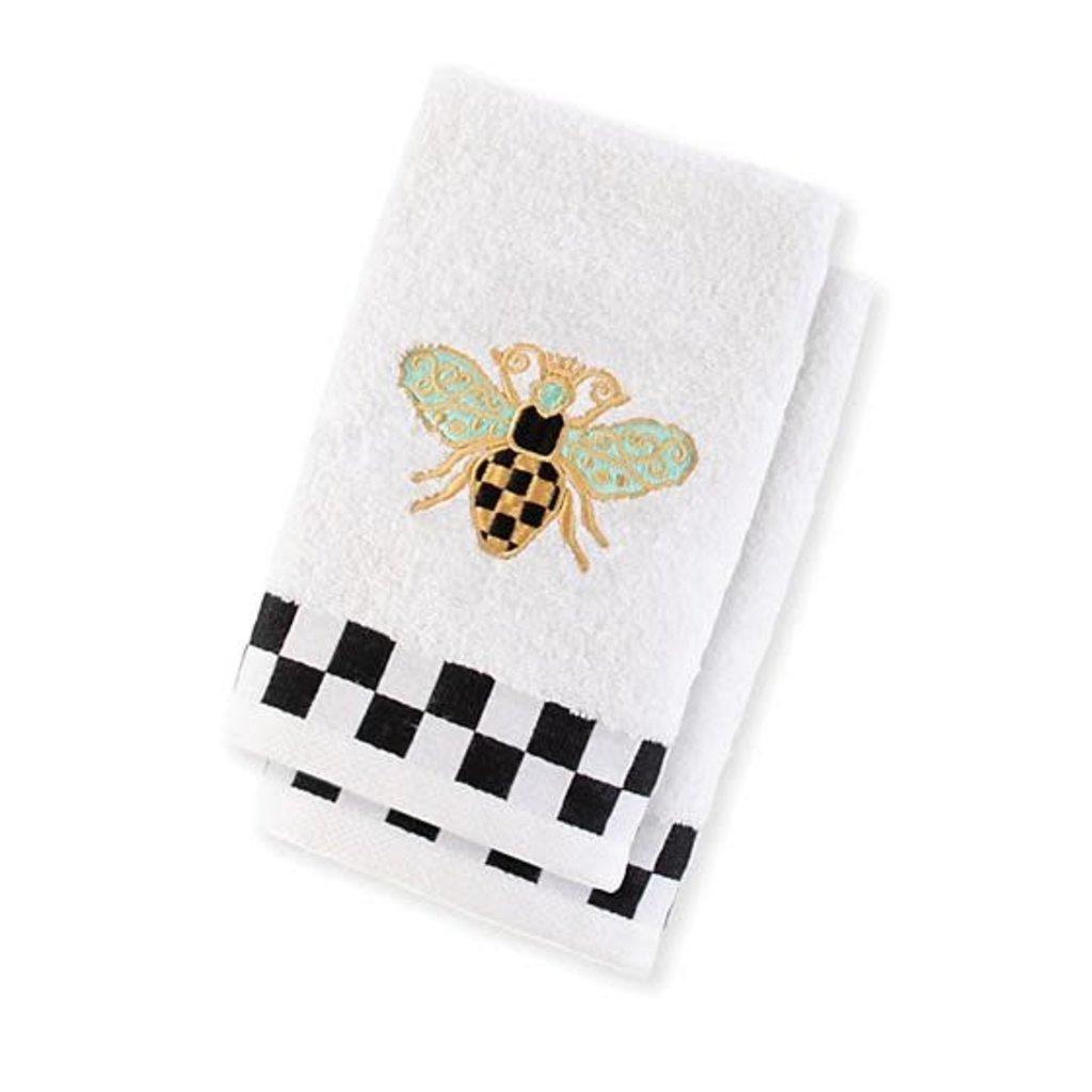 Mackenzie-Childs Queen Bee Hand Towels - Set Of 2