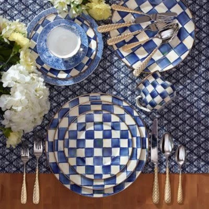 Mackenzie-Childs Royal Check Enamel Salad/Dessert Plate