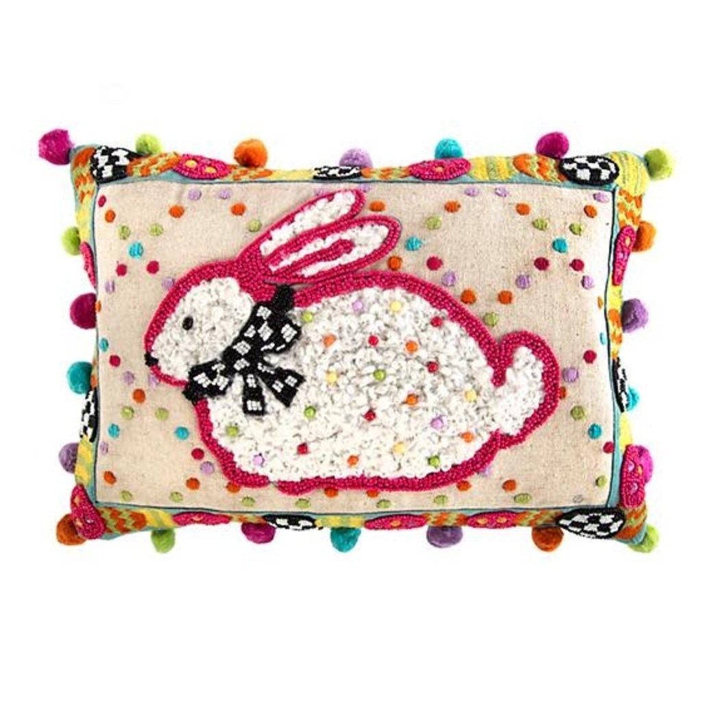 Mackenzie-Childs Dotty Bunny Pillow