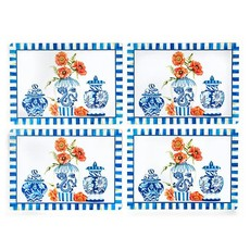 Mackenzie-Childs Chinoiserie Cork Back Placemats - Set Of 4