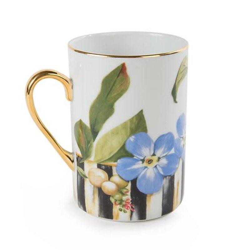 Mackenzie-Childs Thistle & Bee Mug