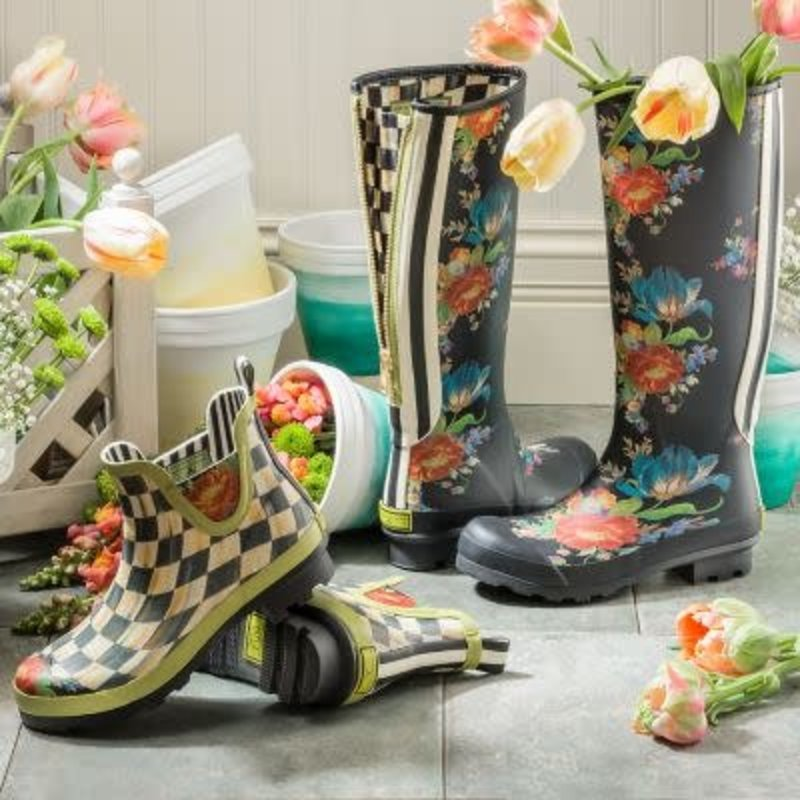 Mackenzie-Childs Flower Market Rain Boots - Tall - Size 9