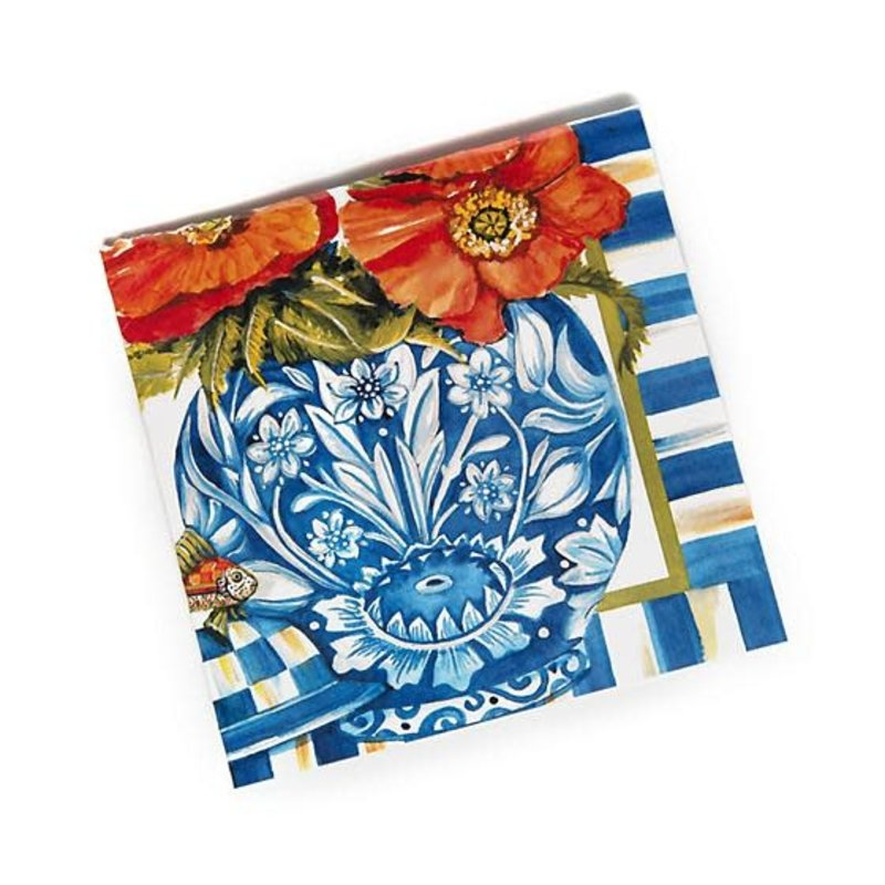 Mackenzie-Childs Ming Poppies Paper Napkins - Cocktail