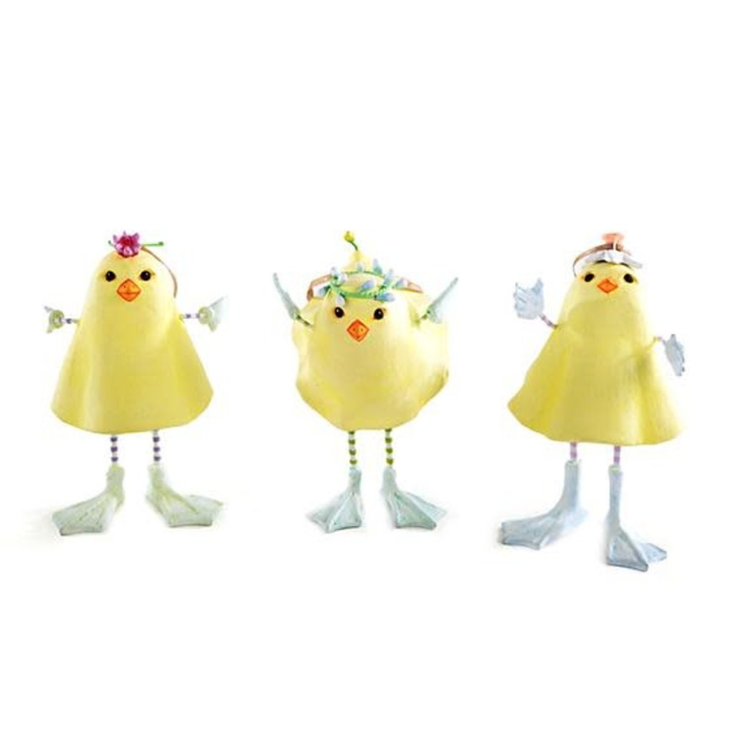 Patience Brewster MARSHMALLOW CHICK ORNAMENTS - SET OF 3
