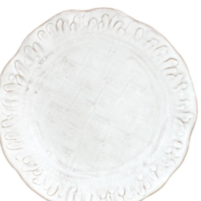 Vietri BZA White Salad Plate