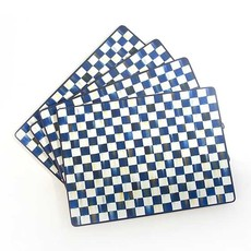 Mackenzie-Childs Royal Check Cork Back Placemats - Set Of 4