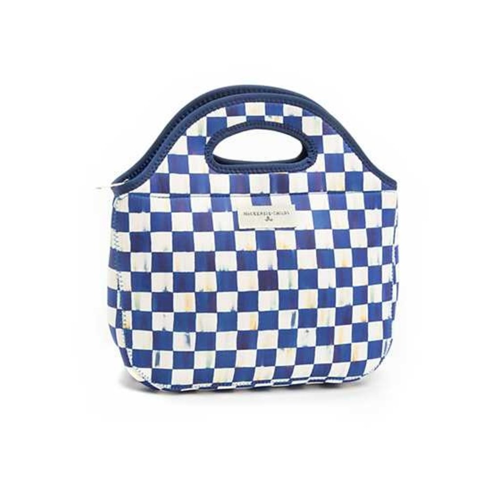 Mackenzie-Childs Royal Check Lunch Tote
