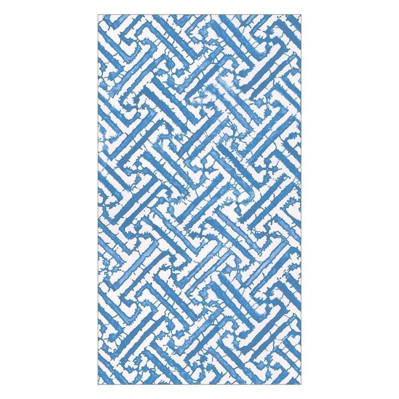 Caspari Fretwork Blue - Guest Towel