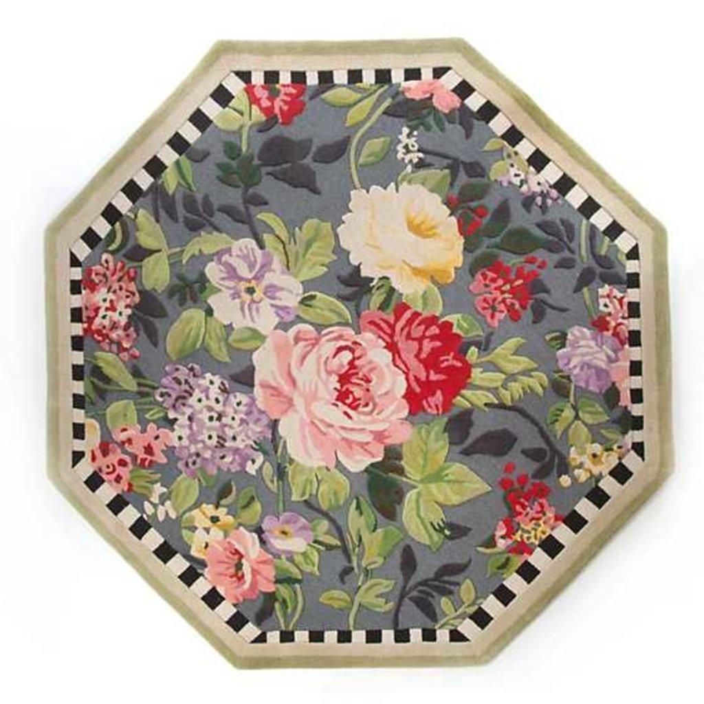 Mackenzie-Childs Tudor Rose Rug - 6' Octagon