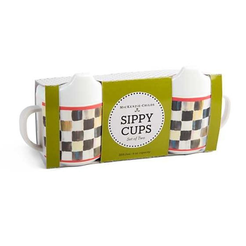Mackenzie-Childs Courtly Check Sippy Cups - Set of 2