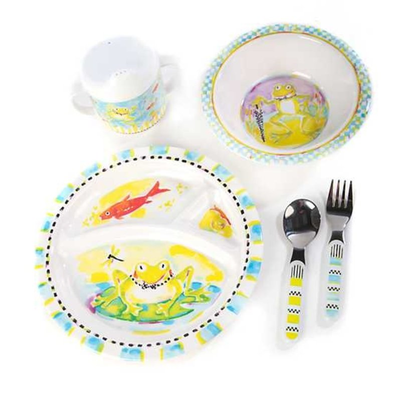 Mackenzie-Childs Toddler's Dinnerware Set - Frog