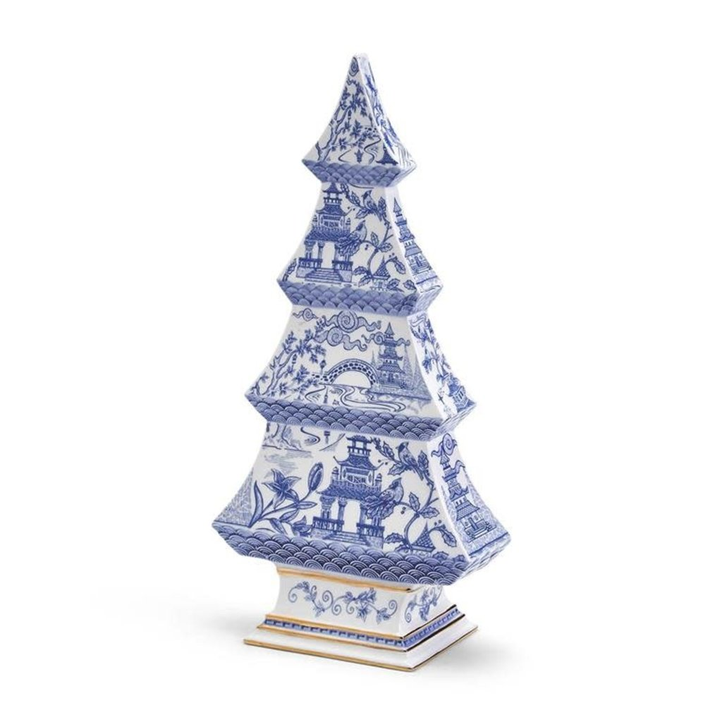 Two's Company Blue and White Christmas Tree