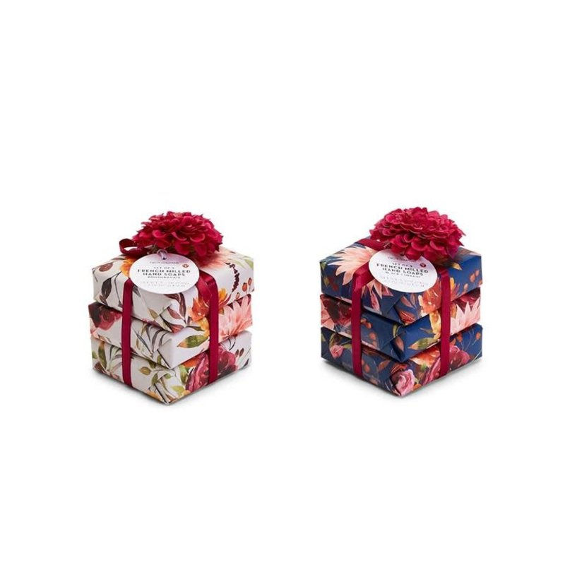 Two's Company Blooms & Berries S/3 French Milled Hand Soaps