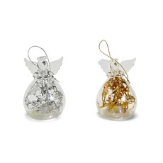 Two's Company Glass Angel Light Up Ornament