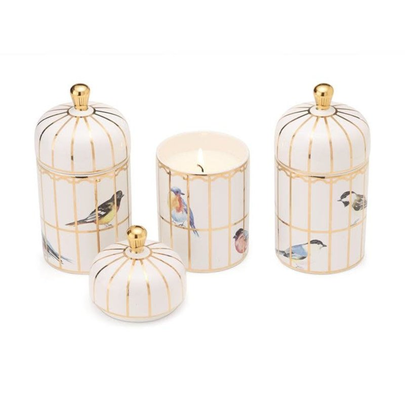 Two's Company Gilded Cage Lidded Fill Candle w/Lemon Verbena