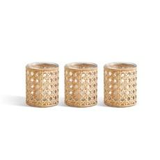 Two's Company Cane Webbing Small Candleholder/Vase