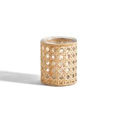 Two's Company Lumingnon Cane Webbing Candleholder / Vase