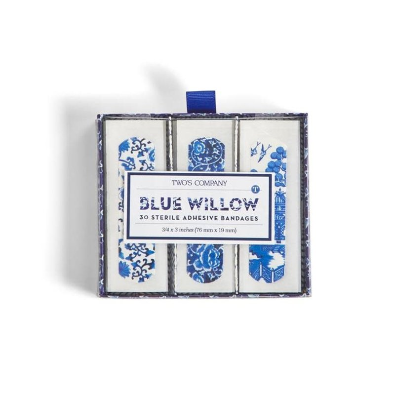 Two's Company Blue Willow 30 Pc Bandages in Gift Box