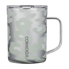 Corkcicle 16 Ounce Snow Leopard Mug
