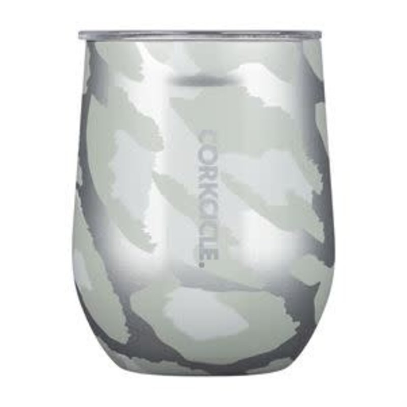 Corkcicle 12 Ounce Snow Leopard Stemless
