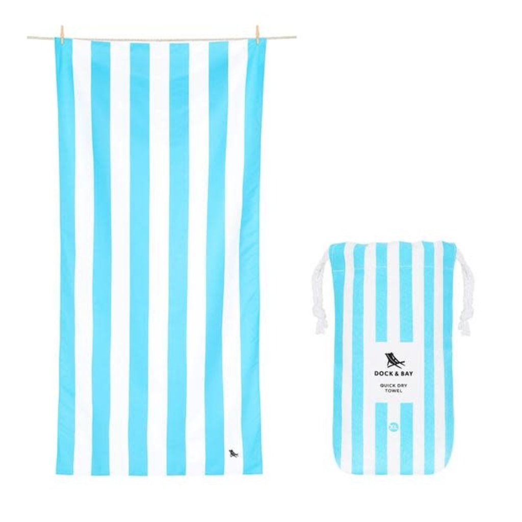 Dock & Bay Dock & Bay Quick Dry Towel - Cabana - Tulum Blue