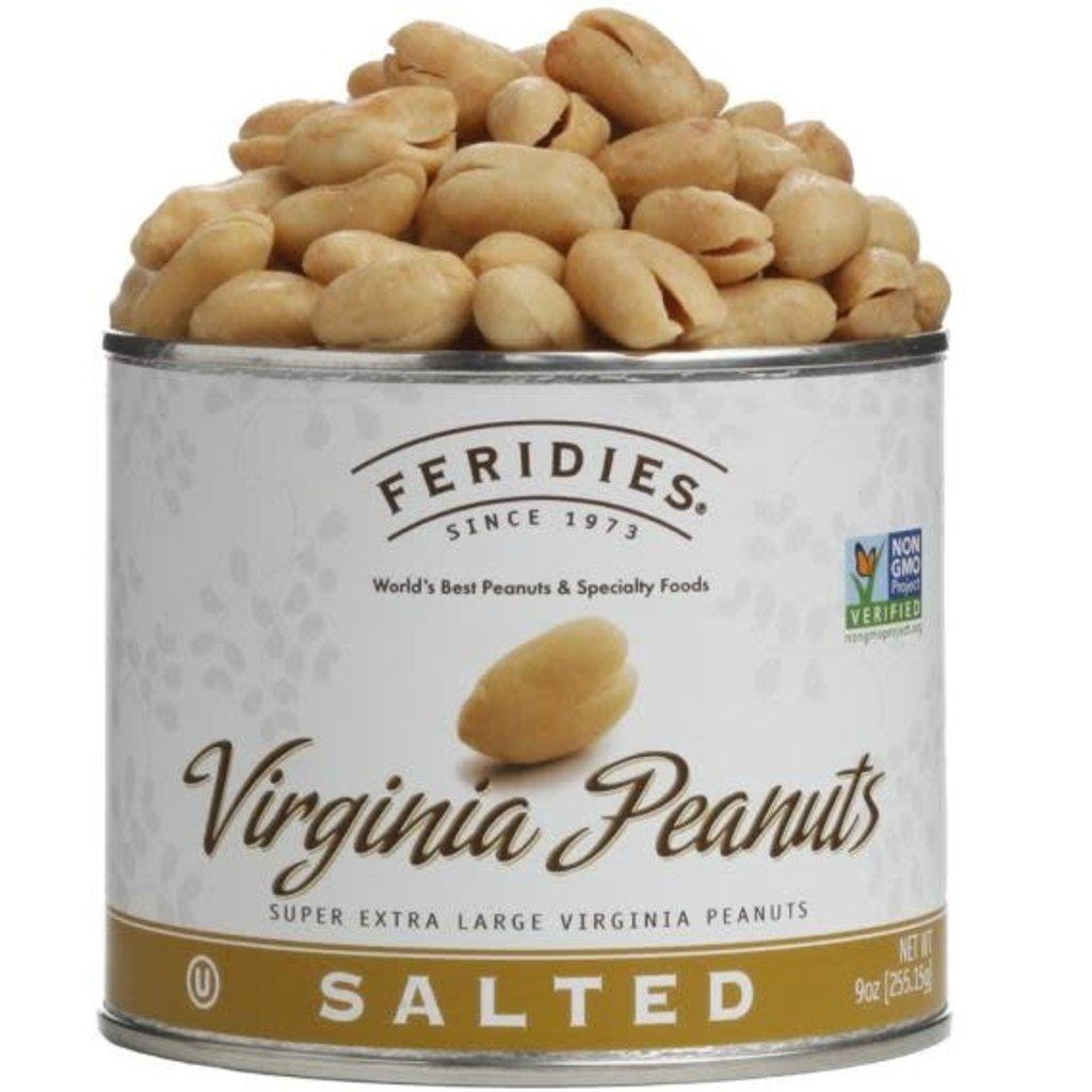 Feridies Salted  Virginia Peanuts 9oz.