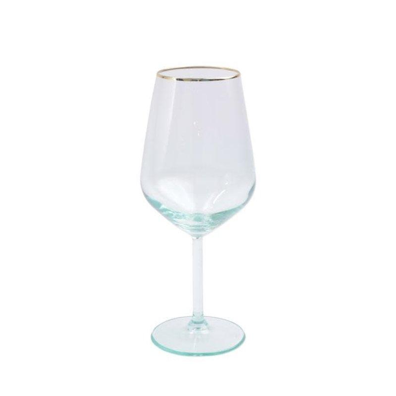 Vietri Rainbow Green Wine Glass