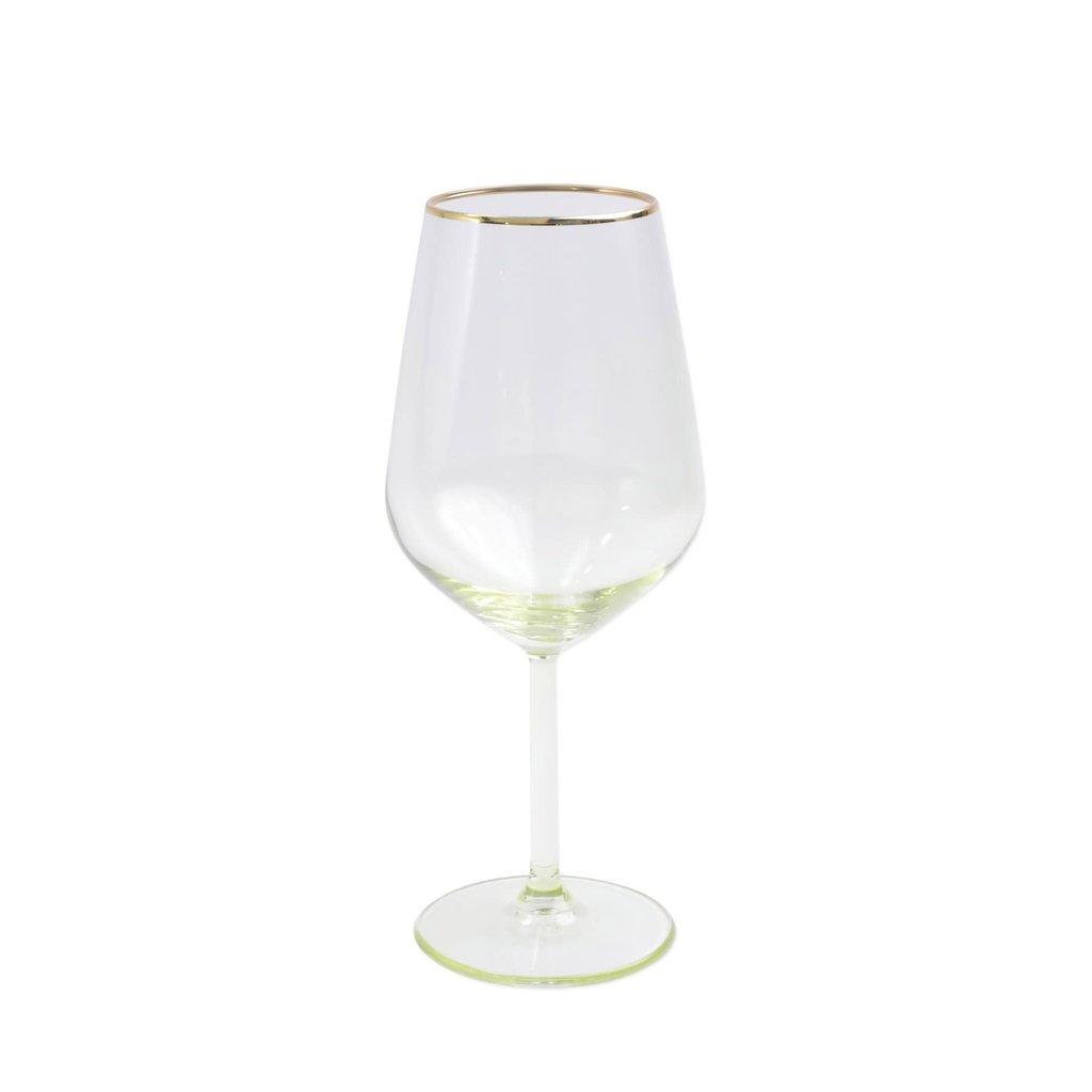 Vietri Rainbow Yellow Wine Glass