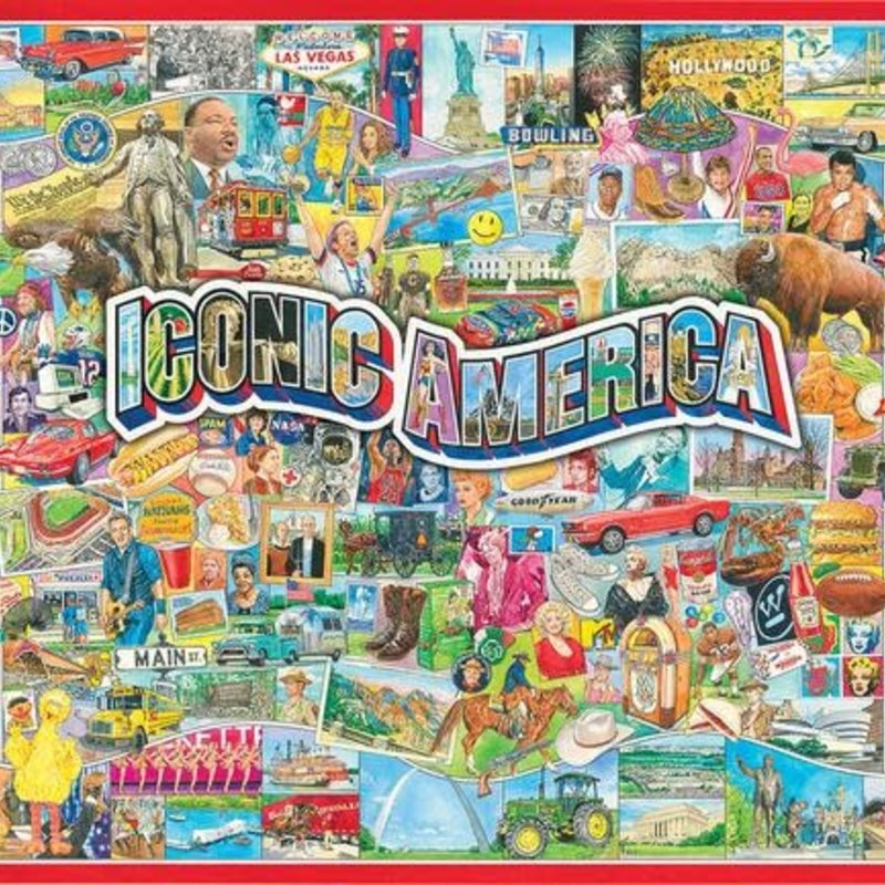White Mountain Puzzles Iconic America Jigsaw Puzzle