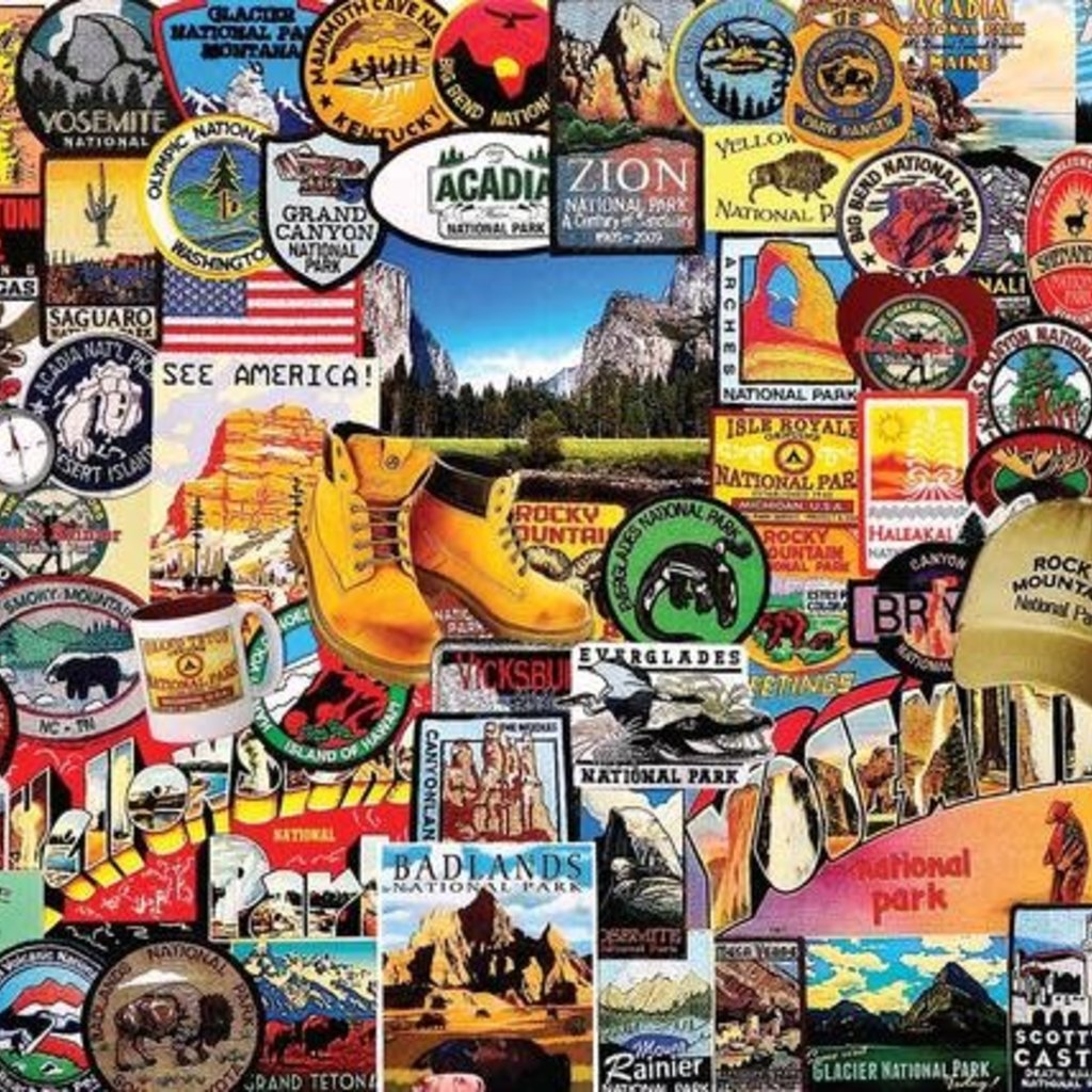White Mountain Puzzles National Park Badges Jigsaw Puzzle