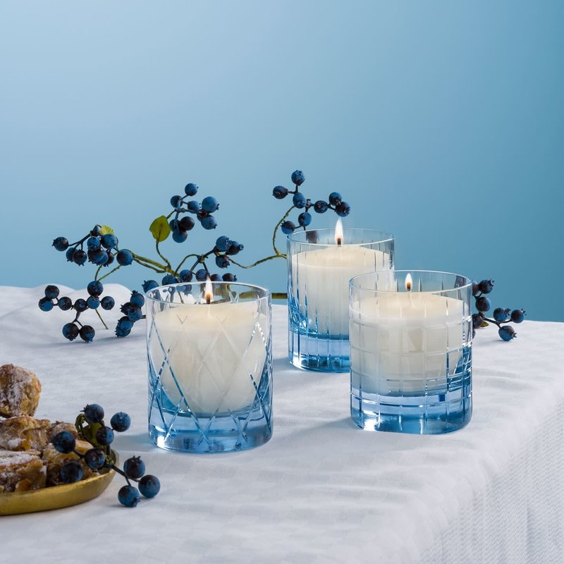 Waterford Cluin Filled Candle Topaz Blue