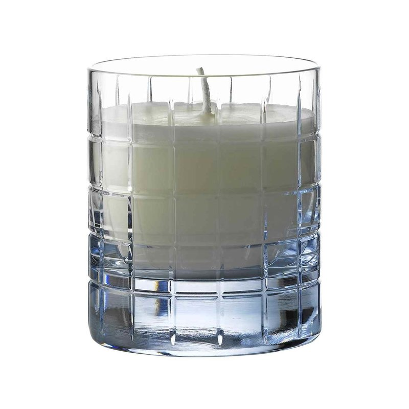 Waterford Aras Filled Candle Topaz Blue