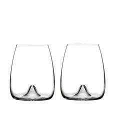 Waterford Elegance Stemless Wine, Pair