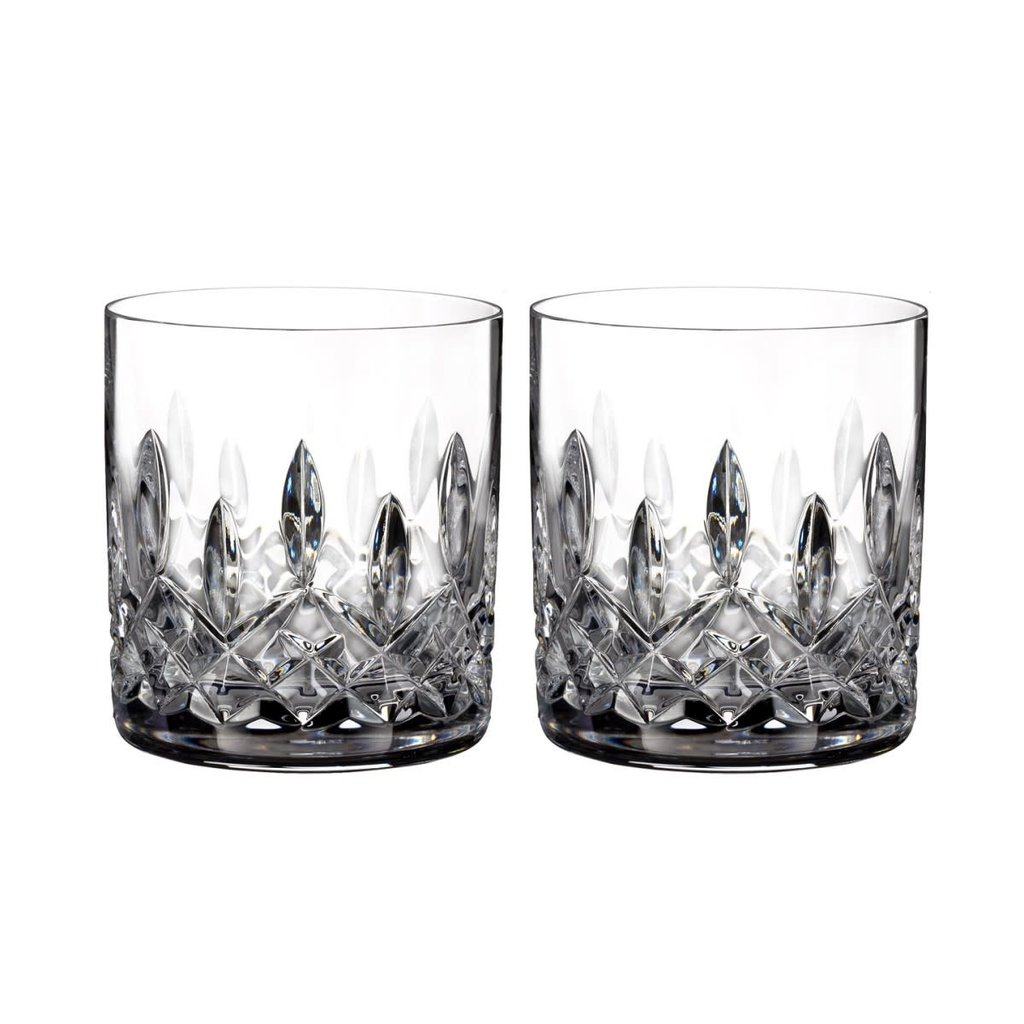 Waterford Lismore Straight Sided Whiskey Tumblers, Pair