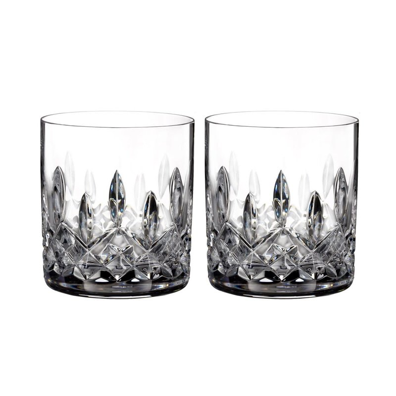 Waterford Lismore 5 oz Straight Sided Whiskey Tumblers, Pair
