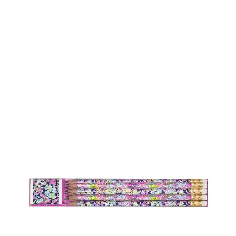 Lilly Pulitzer Lilly Pulitzer Pencil and Eraser Set, Seen and Herd