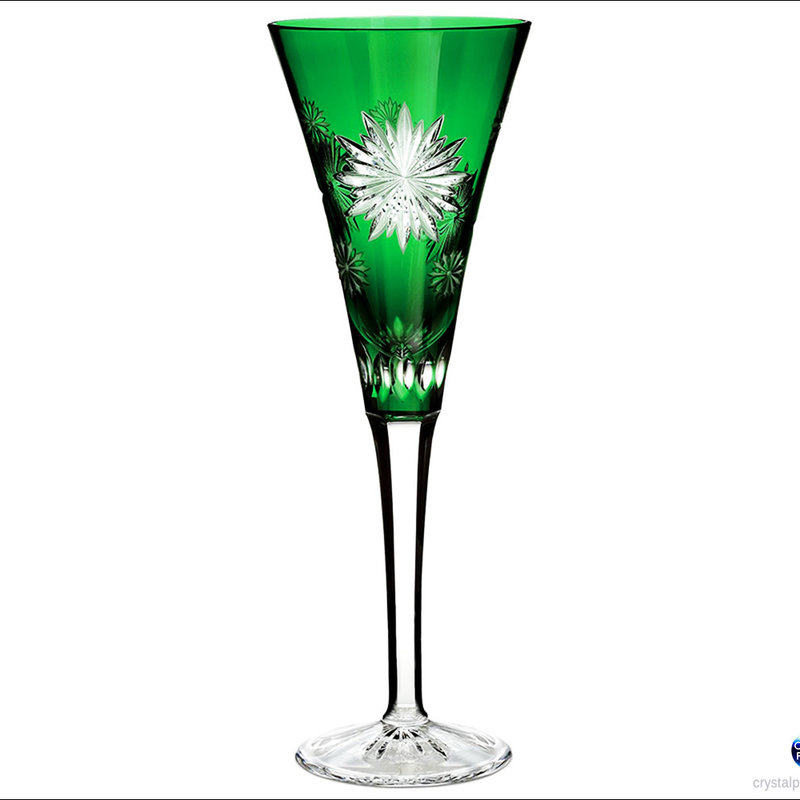 Waterford Snowflake Courage Emerald Flutes