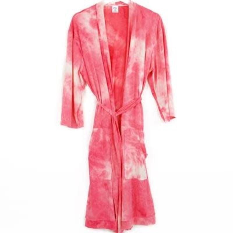 DM Merchandising L/XL Coral Tye Dye Robe