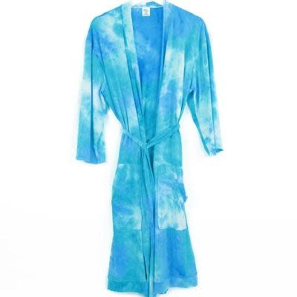 DM Merchandising S/M Aqua Tye Dye Robe