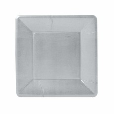 Caspari Silver Leaf Paper Salad/ Dessert Plates, pkg of 8