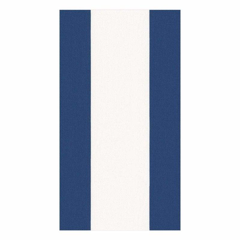 Caspari Bandol Stripe Navy - Guest Towel