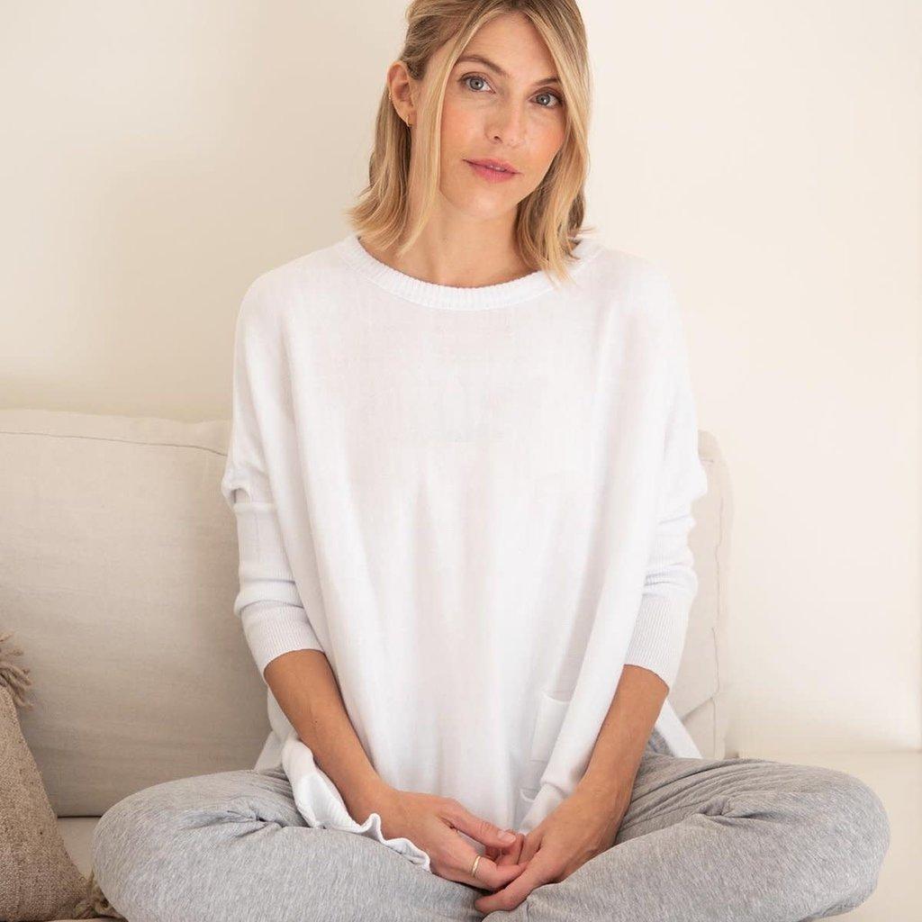 MerSea Crews Pocket Travel Sweater - White