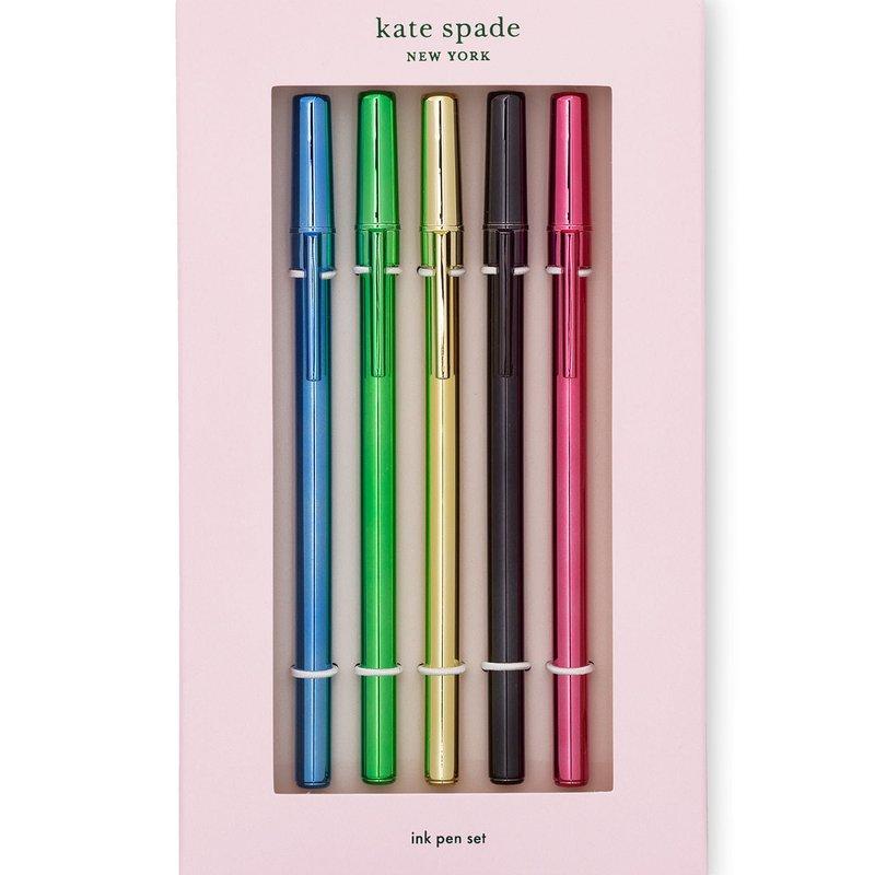 Kate Spade Kate Spade New York Pen set, metallic set of 5