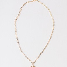 """Leslie Curtis Jewelry Designs Charlie - Hammered Arrowhead Necklace Plated 18K Gold, 16"""""""