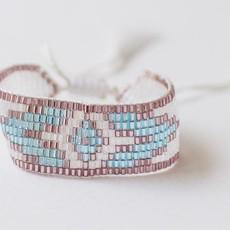 "Leslie Curtis Jewelry Designs Stevi - Grey And Aqua Bracelets W/Tassels 5"" Adjustable"