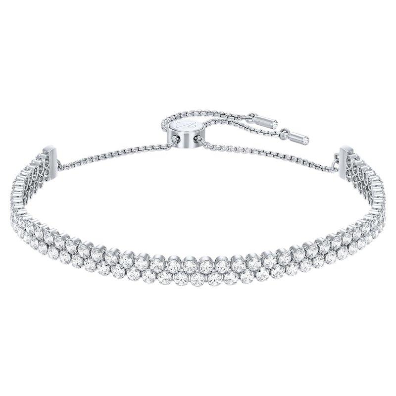 Swarovski Subtle bracelet White, Rhodium plated